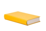 yellow book with blank cover