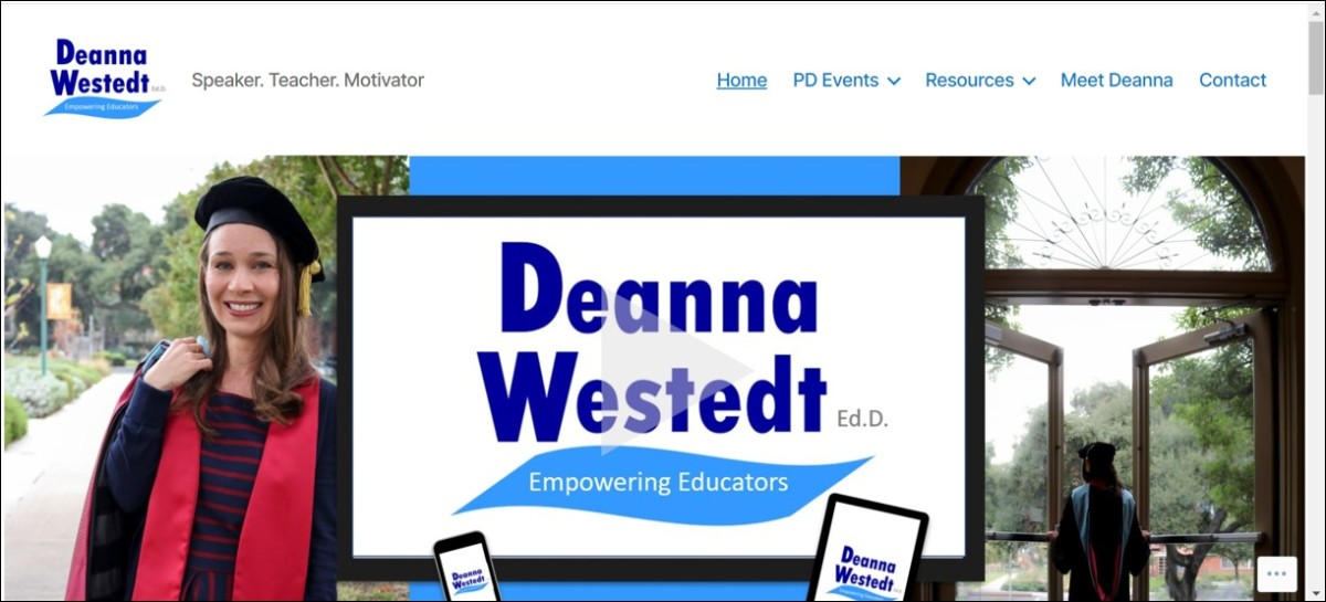 Deanna Westedt website by Public Author